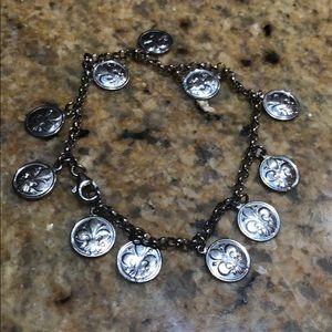 Jewelry - Silver Sand Dollar Charm Bracelet